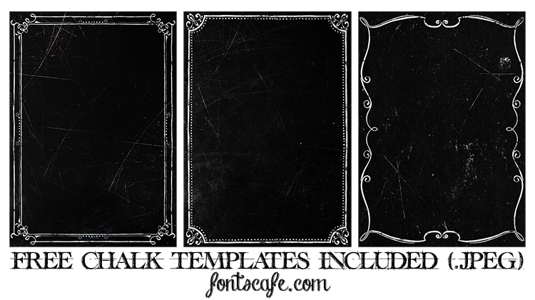 Chalky Templates Fontscafe