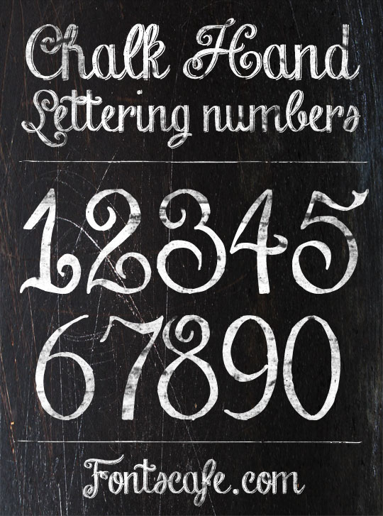 "Chalk Hand Lettering"" font 
