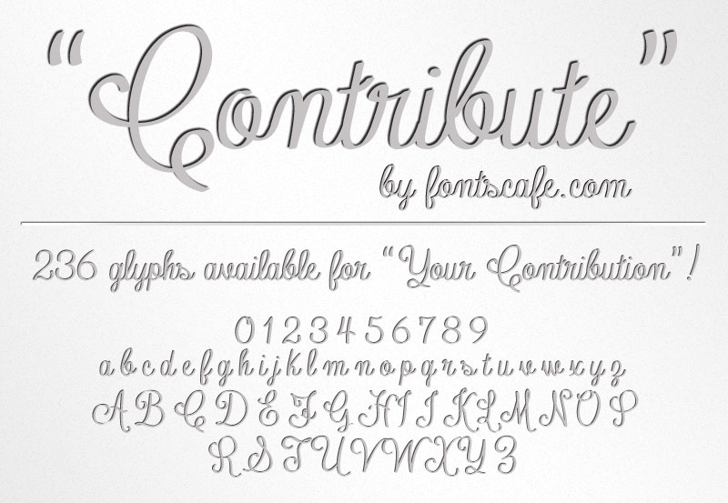 Contribute A Fonts Cafe Walt Whitman Inspired Script Font