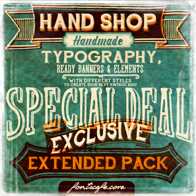 font/hand-shop-extended-pack-fonts