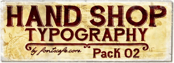 """Hand Shop  Typography Pack 02"" fonts 