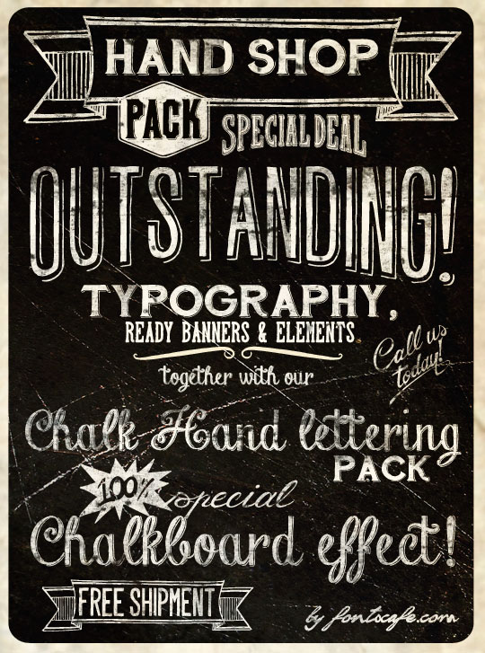 "Hand Shop Extended Pack"" fonts 