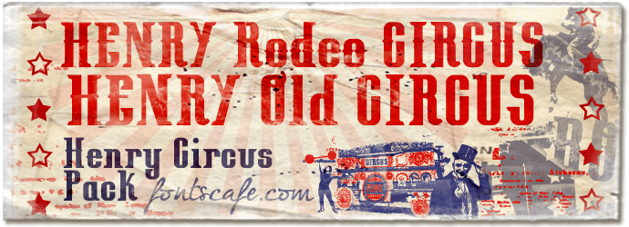 Henry Circus Pack  fonts | Fonts Cafe