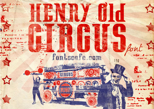 Henry Old Circus font | Fonts Cafe