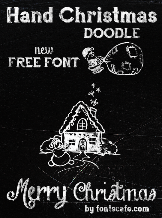 Fonts Cafe Merry Christmas chalkboard art example