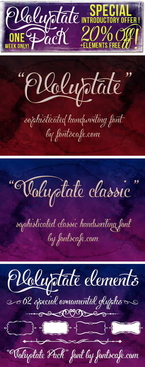 Voluptate Pack fonts | Fonts Cafe