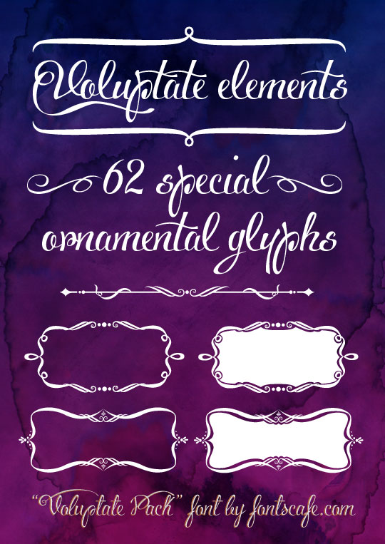 Voluptate Elements example glyphs 1