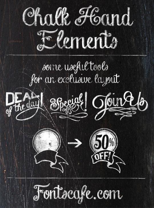 Free Download Font Chalk Hand Lettering