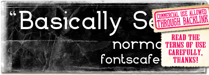 """Basically Serif"" font"