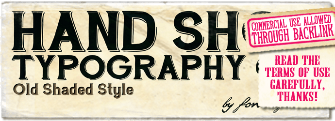 """Hand Shop Typography C30"" font"