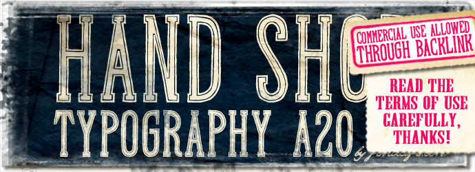 """Hand Shop Typography A20"" font"