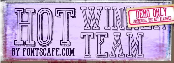 """Hot Winner Team"" font DEMO"