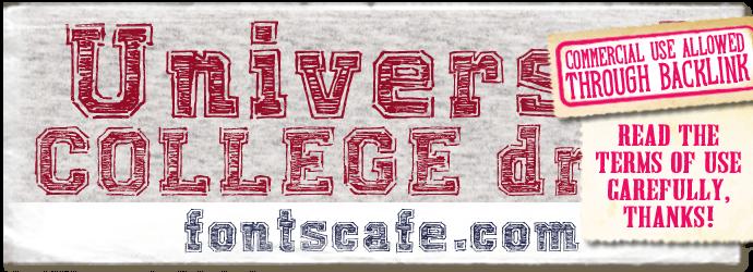 """Universal College draft"" font"
