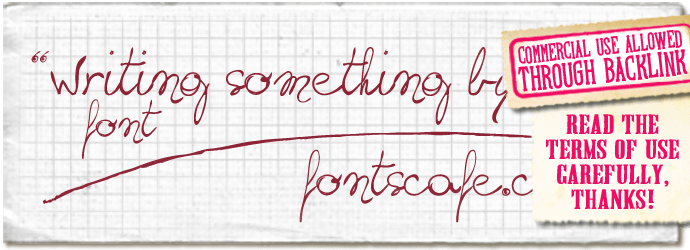 """Writing something by hand"" font"