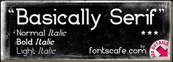 """Basically Serif Pack"" font"