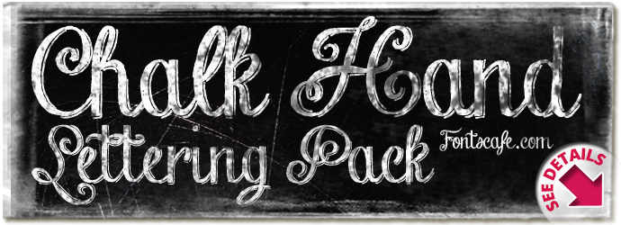 """Chalk Hand Lettering Pack"" fonts"