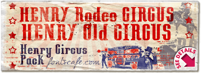 """Henry Circus pack"" font"