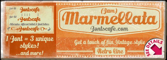 """Marmellata (Jam) Pack"" font"