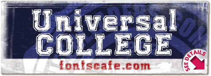 """""""Universal COLLEGE"""" font"""