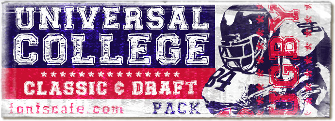 """Universal College Pack 01"" font"