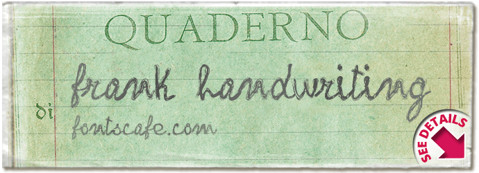 """frank handwriting"" font"