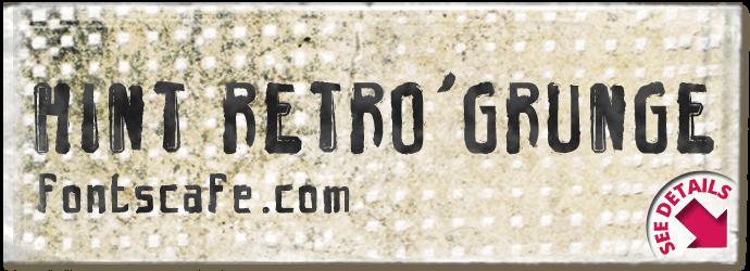 """Hint Retro grunge"" font"