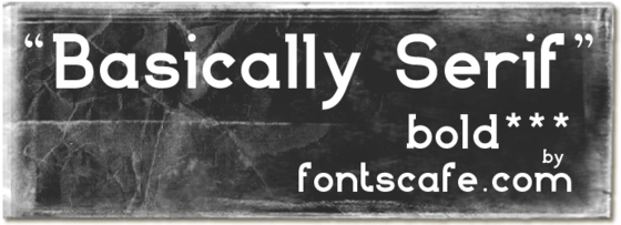"""Basically Serif B"" font"