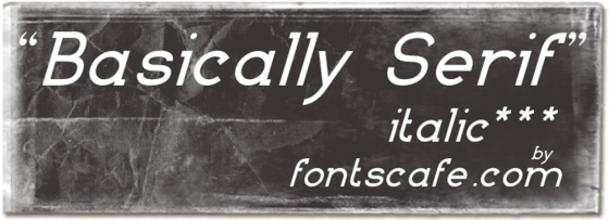 """Basically Serif I"" font"
