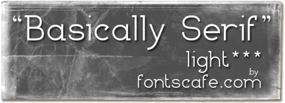 """Basically Serif L"" font"