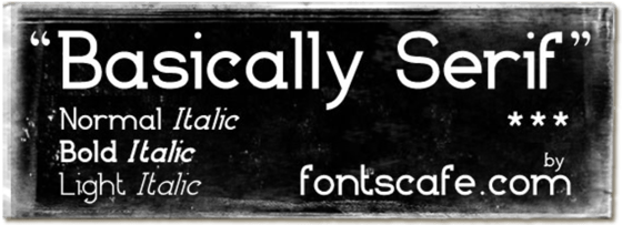 """Basically Serif Pack"" font"