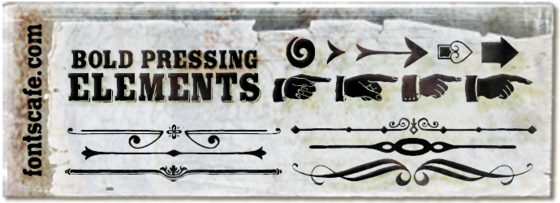 """Bold Pressing Elements 01"" font"