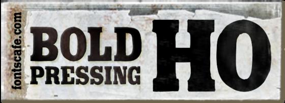 """Bold Pressing H0"" font"