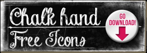 Chalk Hand Icons Free