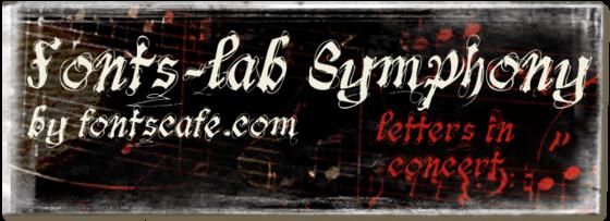 """fonts-lab Symphony"" font"