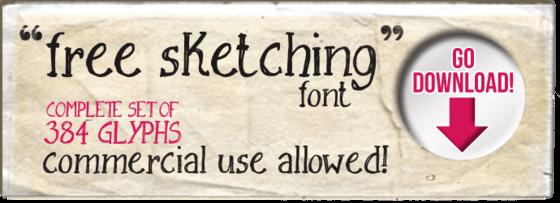 """""""Free Sketching"""" font"""
