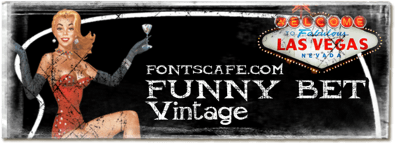 """""""Funny bet vintage"""" font"""