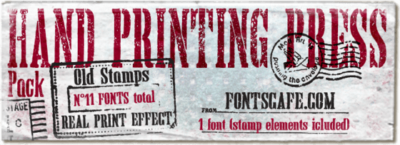 """Hand Printing Press Pack"" fonts"