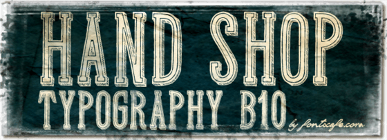 """Hand Shop Typography B10"" font"