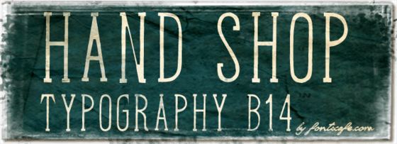 """Hand Shop Typography B14"" font"