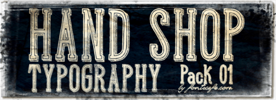 """Hand Shop Typography_Pack 01"" fonts"
