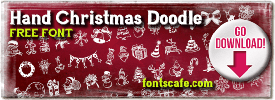"""Hand Christmas Doodle"" font"