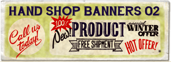 """Hand Shop Banners 02"" font"