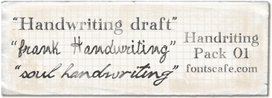 """Download """"Handwriting pack 01"""" fonts 