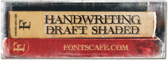 """Handwriting draft Shaded"" font"