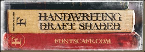 """Handwriting draft Shaded"" font"