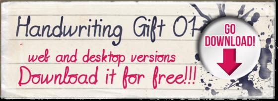 """Handwriting gift 01"" font"