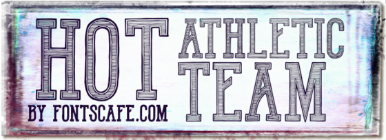 """Hot Athletic Team"" font"