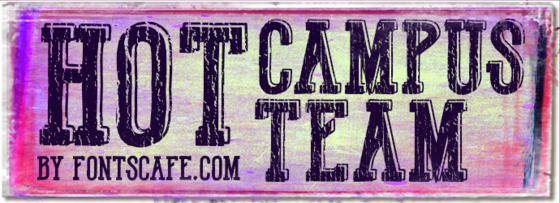 """Hot Campus Team"" font"