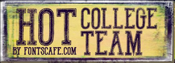 """Hot College Team"" font"