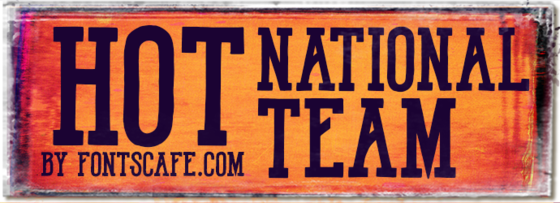 """Hot National Team"" font"